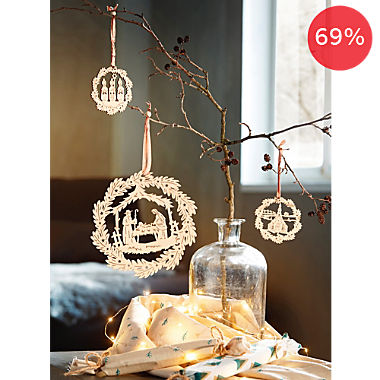 3-piece hanging decoration set