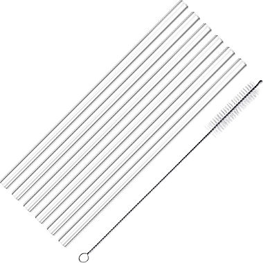 Westmark glass drinking straws 6-pack incl. Cleaning brush