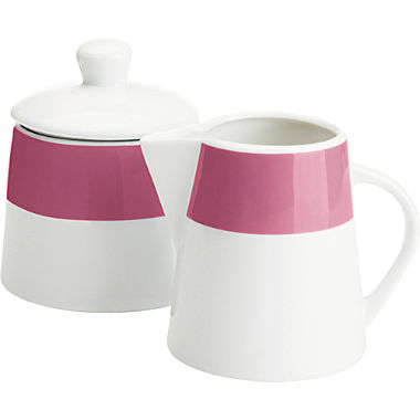 Gepolana sugar jar & cream jug