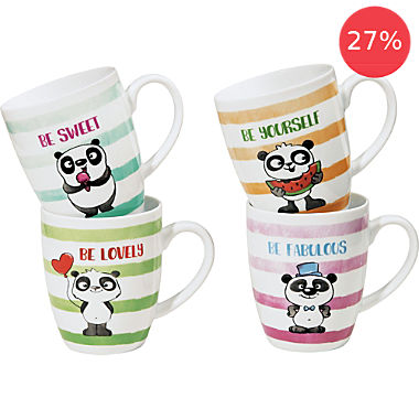 Erwin Müller 4-pack coffee mugs