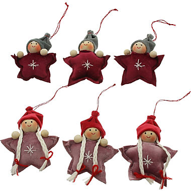 6-piece hanging decoration gnomes