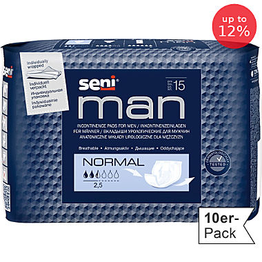 Seni 10-pack men's incontinence pads