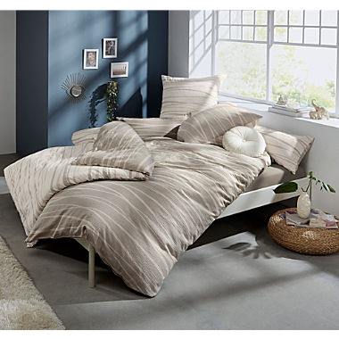 Erwin Müller winter seersucker reversible duvet cover set