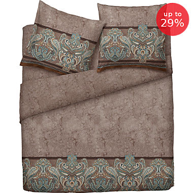 Bassetti fine cotton sateen reversible duvet cover