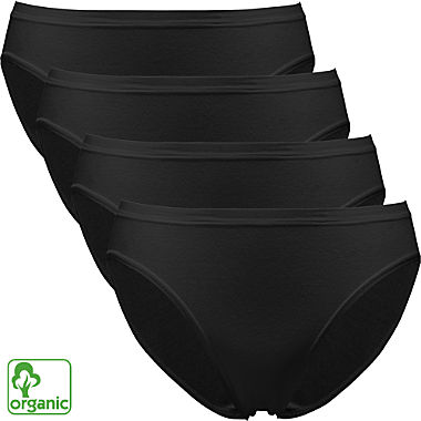 Pompadour 4-pack women's organic cotton briefs