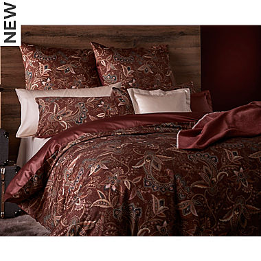 Curt Bauer Egyptian cotton sateen reversible duvet cover set