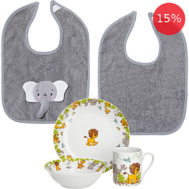Gepolana kids tableware & bibs set