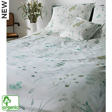 Elegante Egyptian cotton sateen organic cotton duvet cover set