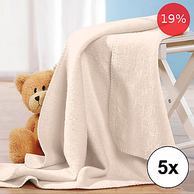 Erwin Müller 5-pack baby blankets