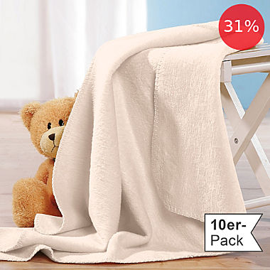 Erwin Müller 10-pack baby blankets