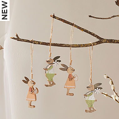 deco hanger rabbit 4-pc