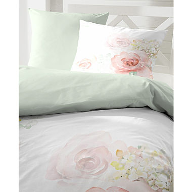 Primera Egyptian cotton sateen reversible duvet cover set