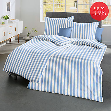 Fleuresse seersucker duvet cover set