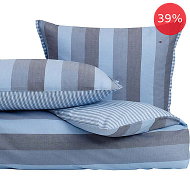 Tommy Hilfiger percale reversible bed linen