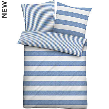 Biberna soft seersucker reversible duvet cover set