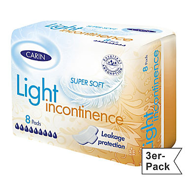 CARIN incontinence pad 3-pack