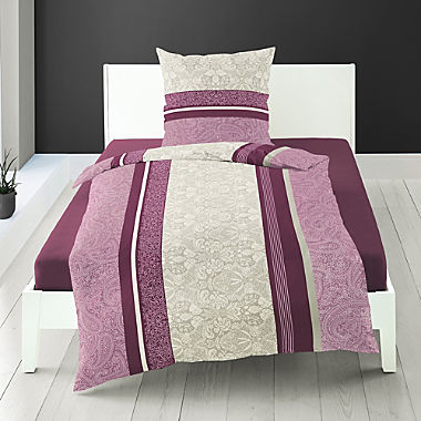 Bierbaum luxury cotton flannelette 3-piece duvet cover set