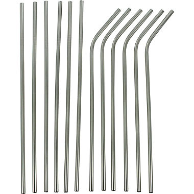 stainless steel drinking straws 12 pieces