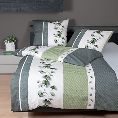 Janine cotton soft seersucker duvet cover set