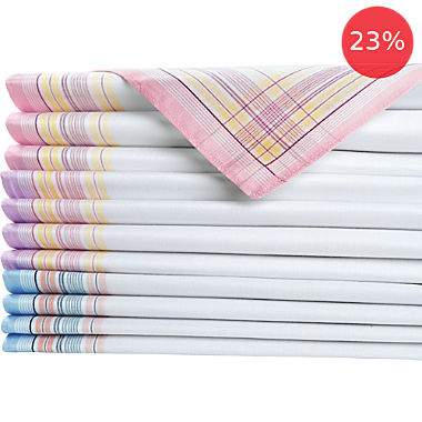 12-pack women's handkerchiefs
