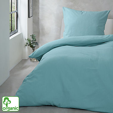 Primera crêpe organic cotton duvet cover set