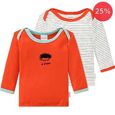 Schiesser 2-pack children's long sleeve t-shirts
