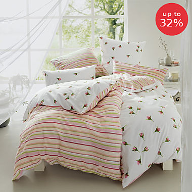 REDBEST cotton flannelette reversible duvet cover set