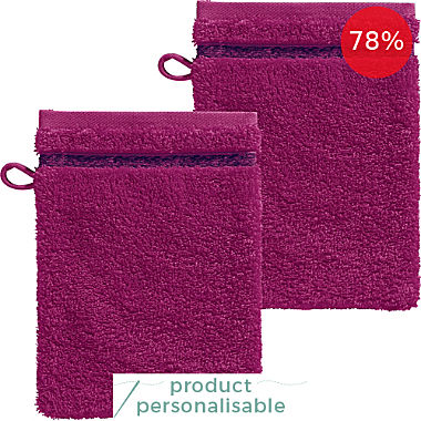 Looks by Wolfgang Joop pack of 2 wash mitts