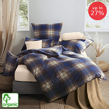 Erwin Müller cotton flannelette organic cotton duvet cover set