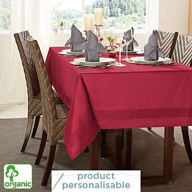 Erwin Müller two-ply damask organic square tablecloth