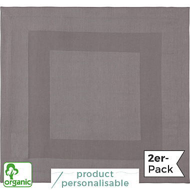Erwin Müller two-ply damask 2-pack organic napkin
