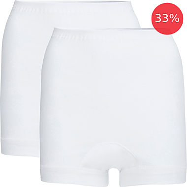 Pack of 2 Con-ta incontinence boy shorts for women