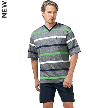 Hajo Klima-Light single jersey men´s short pyjamas