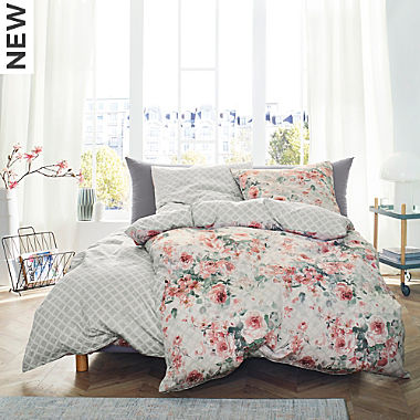 Ibena Egyptian cotton sateen reversible duvet cover set