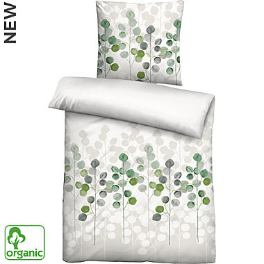 Biberna Egyptian cotton sateen organic cotton duvet cover set