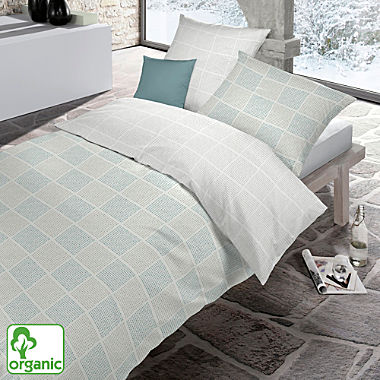 Schlafgut single jersey organic cotton reversible duvet cover set