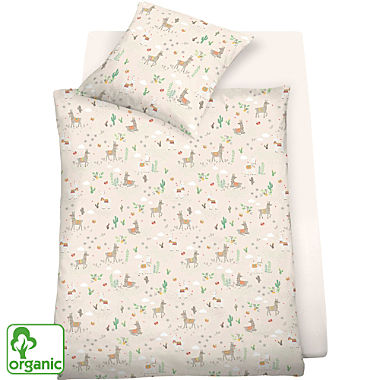 Schlafgut single jersey organic kids duvet cover set