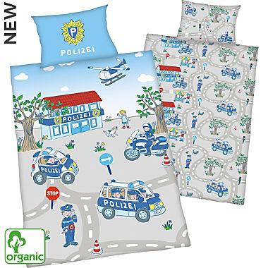Herding cotton flannelette organic reversible bed linen for children