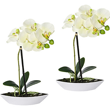 artificial plant orchid 2-pack