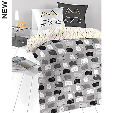 Schlafgut single jersey reversible duvet cover for children
