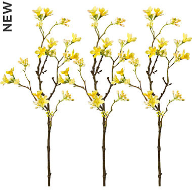 artificial plant mock quince branch 3-pack