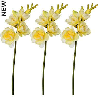 artificial plant freesia 3-pack
