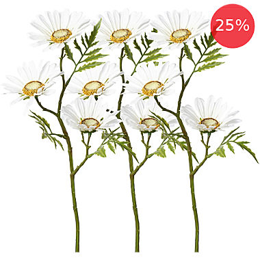 artificial plant daisy branch 3-pack
