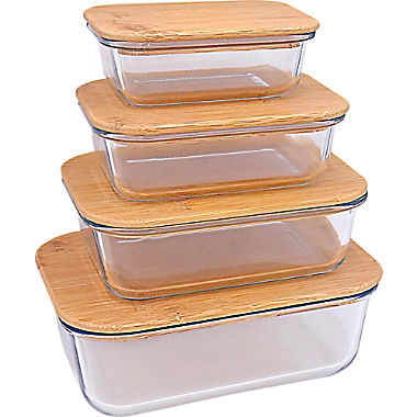 Steuber glas fresh holding box with bamboo lid