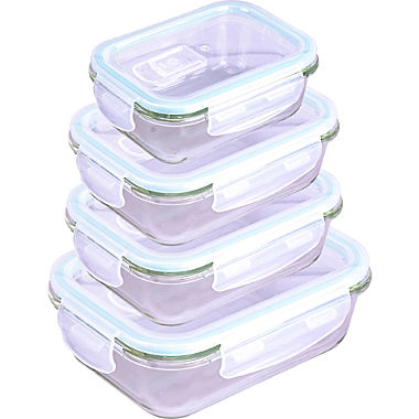 Steuber glass fresh food container with microwave lid