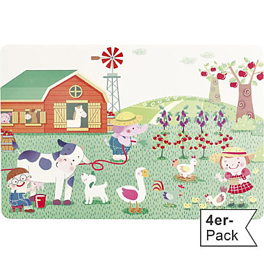 wipe-clean 4-pack table mats