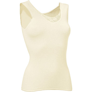 Sleevless angora vest